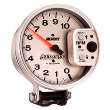 "AutoMeter Products 233907 5"" Tach 10,000 RPM AG Memory, Silver"