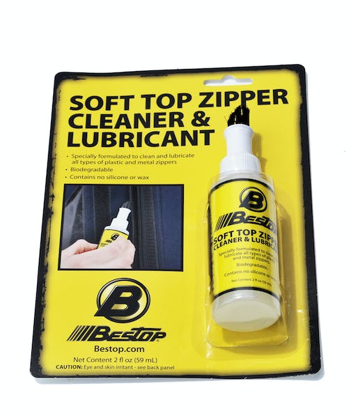 Bestop 11216-00 Soft Top Zipper Cleaner / Lubricant One 2-oz. bottle (boxed)