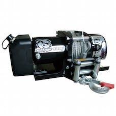 Bulldog Winch 10029 5800lb Trailer Winch, 55' wire Rope, Roller Fairlead, Mnt Plate, Low Profile