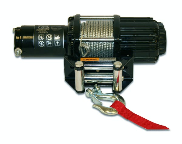 Bulldog Winch 15005 3500lb UTV/Utility Winch, Two Switches, Mounting Channel, Roller Fairlead