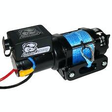 Bulldog Winch 15018 3400lb Trailer/Utility Winch 50' Syn Rope, Hawse Fairlead, Mnt Plate
