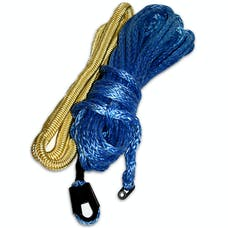 Bulldog Winch 20084 Synthetic Rope 9.5mm x 100ft, Premium with Abrasion Sleeve, up to 12k