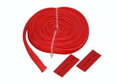 "Bulldog Winch 20138 Wire Sheathing, high heat fiberglass 10mm x 25ft (3/8"") red"