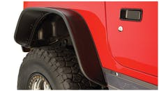 Bushwacker 10056-07 Flat Style Fender Flare - Rear Pair - OE Matte Black