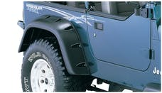 Bushwacker 10058-07 Cut-Out Fender Flare - Rear Pair - OE Matte Black