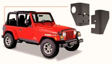 Bushwacker 14001 Jeep Trail Armor Rear Corner - Pair - OE Matte Black