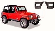 Bushwacker 14007 Jeep Trail Armor Front Corner - Pair - OE Matte Black