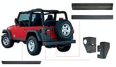 Bushwacker 14902 Jeep Trail Armor Six Piece - Set - OE Matte Black