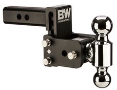 B&W Towing TS10035B B&W Tow And Stow Dual Ball 2 Adj Ball Mount 3 Drop/3-1/2 Rise, Black