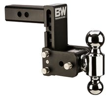 B&W Towing TS10038B B&W Tow And Stow Dual Ball 2 Adj Ball Mount 5 Drop/5-1/2 Rise, Black