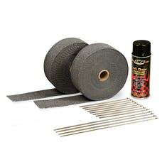 Design Engineering, Inc. 010110 Exhaust Wrap Kit - with Black Wrap & Black HT Silicone Coating