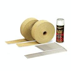 DEI 010111 Exhaust Wrap Kit - with Tan Wrap & White HT Silicone Coating