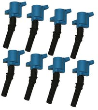 Granatelli Motorsports 21-2000 4.6/5.4L 2V OEM Coil Pack Replacements, Blue (set of 8), Ford