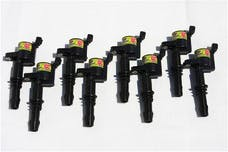 Granatelli Motorsports 21-3001-SF 4.6/5.4L 3V OEM Coil Pack Replacements, Black (set of 8), Ford