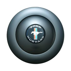 GT Performance 21-1165 GT9 Horn Button Large Blk Color Mustang