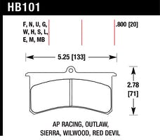 Hawk Performance HB101E.800 Disc Brake Pad