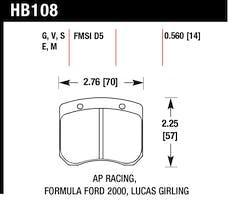 Hawk Performance HB108M.560 Disc Brake Pad