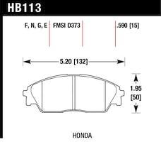 Hawk Performance HB113F.590 Disc Brake Pad