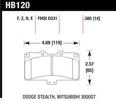 Hawk Performance HB120F.560 Disc Brake Pad
