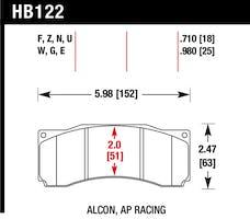 Hawk Performance HB122E.710 Disc Brake Pad