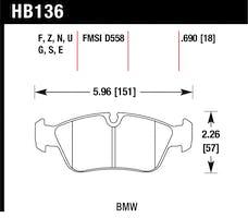 Hawk Performance HB136F.690 Disc Brake Pad