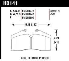 Hawk Performance HB141F.650 Disc Brake Pad