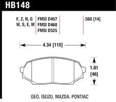 Hawk Performance HB148E.560 Disc Brake Pad
