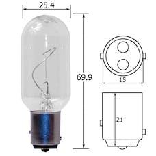 Hella Inc 998529001 T 8 12V 20W Marine Incandescent Bulb