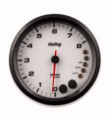 Holley 26-616W 4-1/2 Holley 8K Tach W/Shft Lgt-White