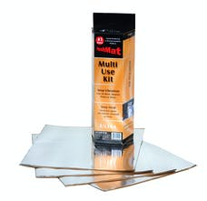 Hushmat 10151 Multi Use Kit has 4 silver sheet of 12x11 in Ultra. Total 3.7 sqft.