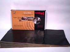 Hushmat 10800 Super Bulk Kit has 9 black sheets of 18x32 in Ultra. Total 36 sqft.