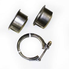 """JBA Performance Exhaust VB25 2.5"""" Stainless Steel V-Band clamp and flanges"""