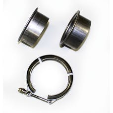 """JBA Performance Exhaust VB30 3"""" Stainless Steel V-Band clamp and flanges"""