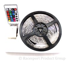 Race Sport Lighting RS-16FT-3528-RGB 16ft (5M) 20-Color RGB LED Strip w/ Remote