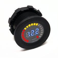 Race Sport Lighting RS50798 12V DC Voltmeter Socket Input DC 12V Output