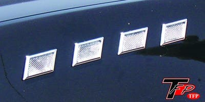 TFP 10127UP Universal Port Universal Fitment - Steep Square (Chrome Screen). 8 Pieces