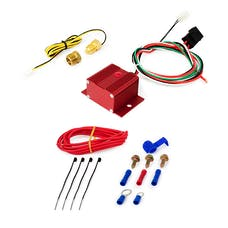 Top Street Performance HC7110R Adjustable Electric Fan Controller Wiring Harness Kit, Red