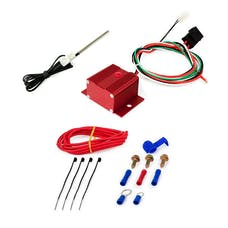 Top Street Performance HC7111R Adjustable Electric Fan Controller Wiring Harness Kit Red