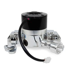 Top Street Performance HC8031C Aluminum Electric Water Pump Include Backplate, Chrome