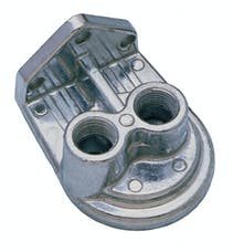"""Trans Dapt Performance 1055 Remote Transmission Filter Mounting Base and Filter Nipple (Only);1/4"""" NPT Ports"""
