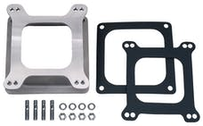 """Trans Dapt Performance 2381 2-1/8"""" Tall, 4BBL Holley/AFB to Holley Dom. 4500 Mani Carb Adapter-Cast Aluminum"""