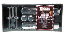 "Trans Dapt Performance 3050 ""MOPAR"" Engine Dress Up Kit; SHORT Valve Covers; SB Chrysler 318-340-360-CHROME"