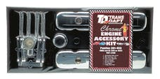 Trans Dapt Performance 3100 PONTIAC Engine Dress-Up Kit; TALL Valve Covers; PONTIAC 301-455 (not 403)-CHROME