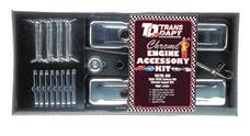 "Trans Dapt Performance 3101 ""O.E.M. STYLE"" Engine Kit; SHORT Valve Covers; 78-86 CHEVROLET 5.0/5.7L-CHROME"