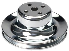 Trans Dapt Performance 8300 WATER PUMP Pulley; 1 Groove; 1965-1966 FORD 289; O.E. Water Pump-CHROME