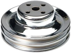 Trans Dapt Performance 8301 WATER PUMP Pulley; 2 Groove; 1965-1966 FORD 289; O.E. Water Pump-CHROME