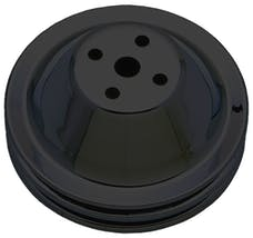Trans Dapt Performance 8601 WATER PUMP Pulley; 2 Groove; CHEVY SB (55-68)0; SHORT Water Pump-ASPHALT BLACK