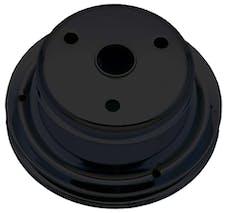 Trans Dapt Performance 8606 CRANKSHAFT Pulley; 1 Groove; CHEVROLET SB (69-85);LONG Water Pump-ASPHALT BLACK