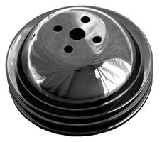 Trans Dapt Performance 8615 WATER PUMP Pulley; 2 Groove; CHEVY BB (65-68); SHORT Water Pump-ASPHALT BLACK