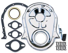 Trans Dapt Performance 9001 Chrome Timing Chain Cover, Gasket, Bolts, Seal and Tab- 1965-90 Chevy 396-454